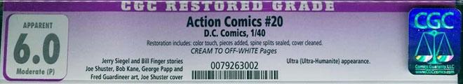 CGC Label Restored