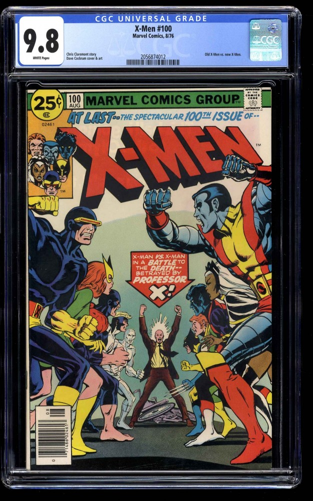X-Men #100 CGC NM/M 9.8 White Pages Old Vs New Team!