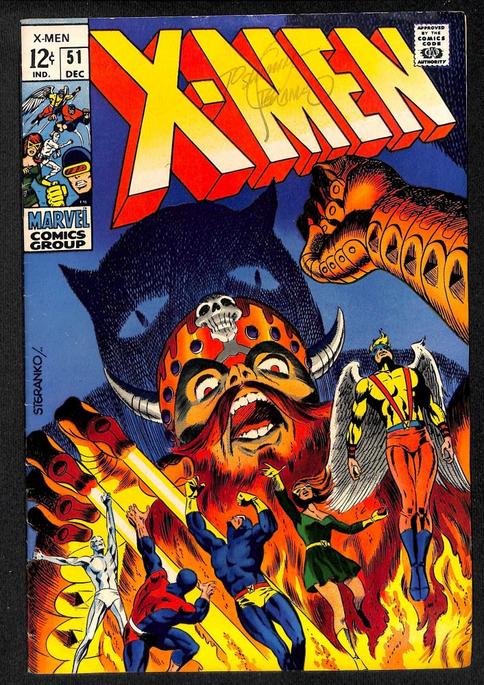 X-Men #51 FN/VF 7.0 1st Erik the Red! Signed by Steranko!!