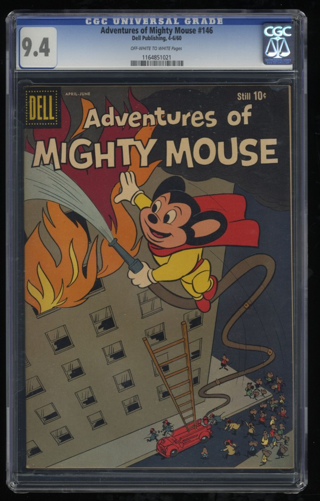 Adventures of Mighty Mouse #146 CGC NM 9.4 Off White to White