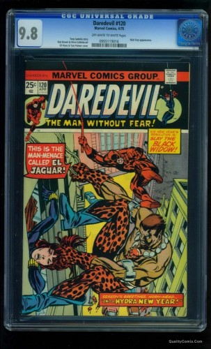 Item: Daredevil #120 CGC NM/M 9.8 Off-White to White Tongie Farm Collection