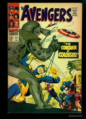 Item: Avengers #37 FN/VF 7.0 Tongie Farm Collection