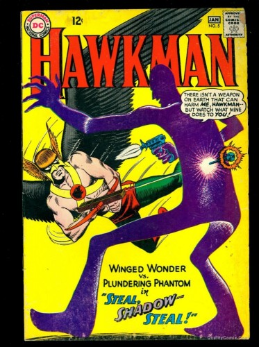 Item: Hawkman #5 VG- 3.5 Tongie Farm Collection