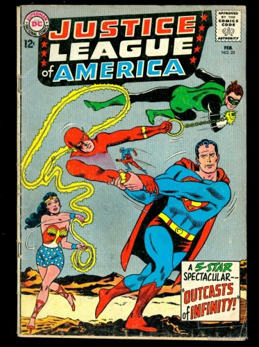 Item: Justice League Of America #25 VG- 3.5 Tongie Farm Collection