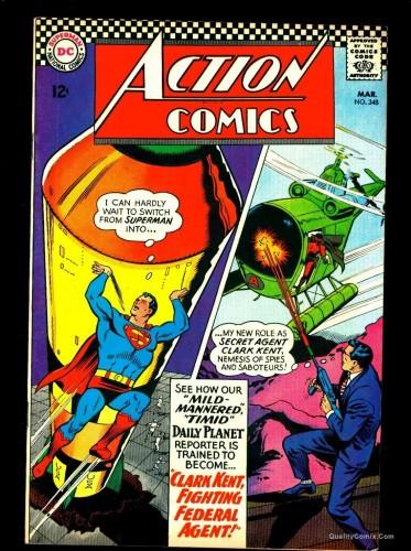 Item: Action Comics #348 VF- 7.5