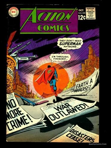 Item: Action Comics #368 FN/VF 7.0