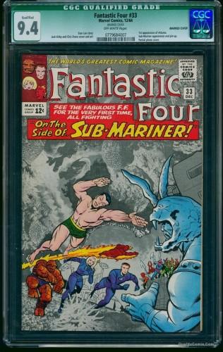 Item: Fantastic Four #33 CGC NM 9.4 Off-White