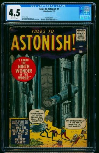 Item: Tales To Astonish #1 CGC VG+ 4.5 Off-White
