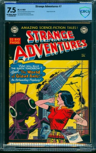Item: Strange Adventures #7 CBCS VF- 7.5 Off-White to White
