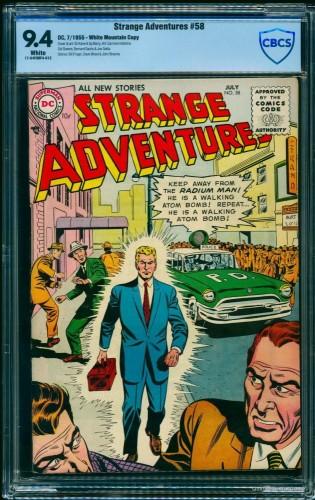 Item: Strange Adventures #58 CBCS NM 9.4 White White Mountain