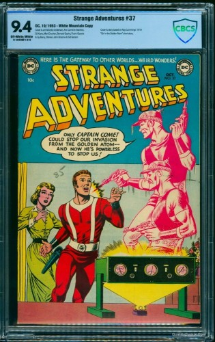 Item: Strange Adventures #37 CBCS NM 9.4 Off-White to White White Mountain
