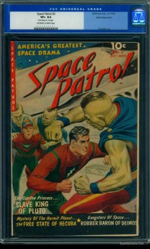 Item: Space Patrol #2 CGC VF+ 8.5 Off-White to White White Mountain