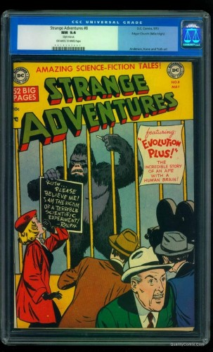 Item: Strange Adventures #8 CGC NM 9.4 Off-White to White Mile High