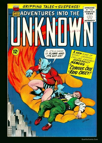Item: Adventures Into The Unknown #163 VF/NM 9.0 Bethlehem