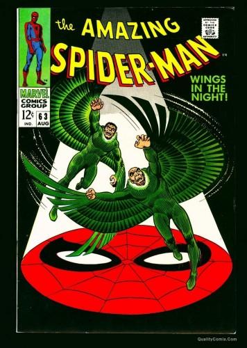 Item: Amazing Spider-Man #63 VF/NM 9.0 Off White to White Massachussetts