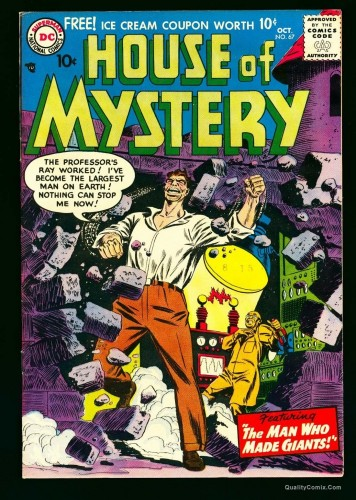Item: House Of Mystery #67 NM- 9.2 White Bethlehem