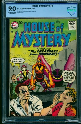 Item: House Of Mystery #70 CBCS VF/NM 9.0 Off-White to White