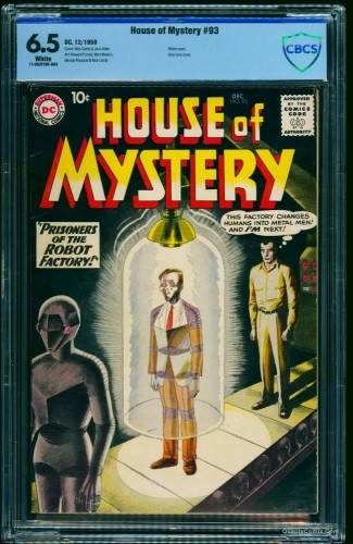 Item: House Of Mystery #93 CBCS FN+ 6.5 Off-White