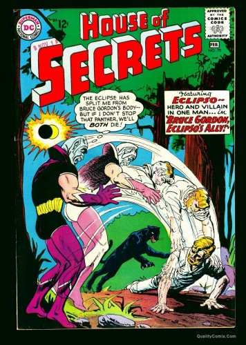 Item: House Of Secrets #70 VF+ 8.5 White Bethlehem