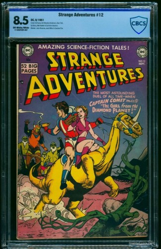 Item: Strange Adventures #12 CBCS VF+ 8.5 Off-White to White