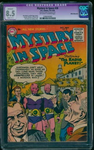 Item: Mystery In Space #28 CGC VF+ 8.5 Off-White to White (Restored)