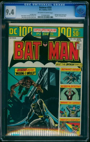 Item: Brave And The Bold #255 CGC NM 9.4 Off White to White