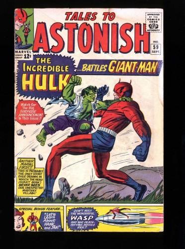 Item: Tales To Astonish #59 GD+ 2.5