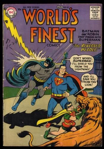 Item: World's Finest Comics #87 VG 4.0