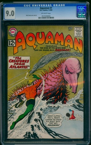 Item: Aquaman #7 CGC VF/NM 9.0 Off White