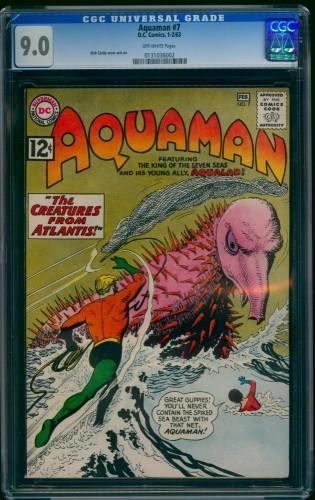 Item: Aquaman #7 CGC VF/NM 9.0 Off White