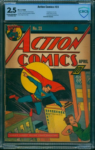 Item: Action Comics #23 CBCS GD+ 2.5 Cream To Off White DC Superman