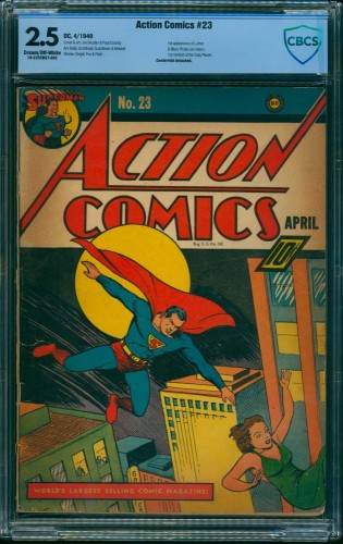 Item: Action Comics #23 CBCS GD+ 2.5 Cream To Off White DC Superman