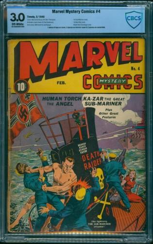 Item: Marvel Mystery Comics #4 CBCS GD/VG 3.0 Off White Timely