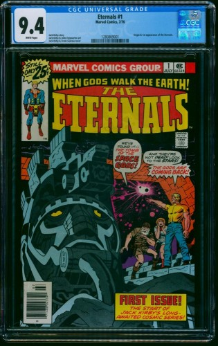 Item: Eternals #1 CGC NM 9.4 White Pages
