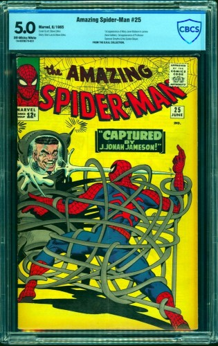 Item: Amazing Spider-Man #25 CBCS VG/FN 5.0 Off White to White Marvel Comics Spiderman