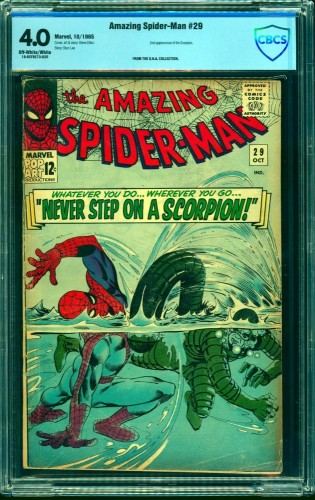 Item: Amazing Spider-Man #29 CBCS VG 4.0 Off White to White Marvel Comics Spiderman