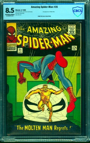 Item: Amazing Spider-Man #35 CBCS VF+ 8.5 Off White to White Marvel Comics Spiderman