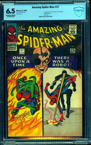 Item: Amazing Spider-Man #37 CBCS FN+ 6.5 Off White to White Marvel Comics Spiderman