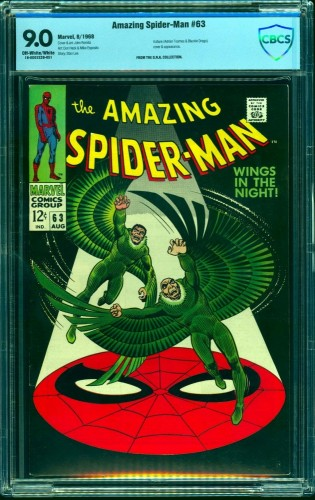 Item: Amazing Spider-Man #63 CBCS VF/NM 9.0 Off White to White Marvel Comics Spiderman