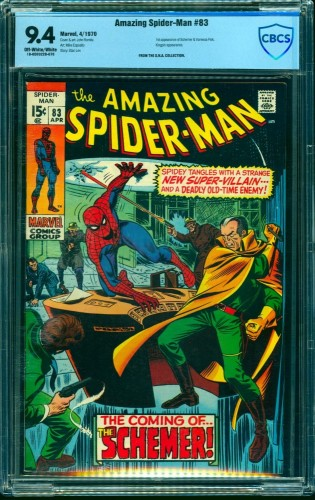 Item: Amazing Spider-Man #83 CBCS NM 9.4 Off White to White Marvel Comics Spiderman