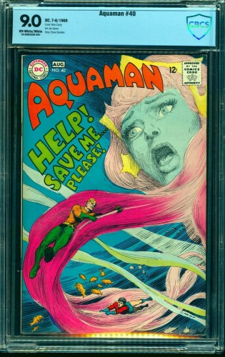 Item: Aquaman #40 CBCS VF/NM 9.0 Off White to White