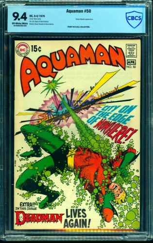 Item: Aquaman #50 CBCS NM 9.4 Off White to White