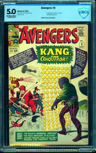 Item: Avengers #8 CBCS VG/FN 5.0 Off White to White Marvel Comics Thor Captain America