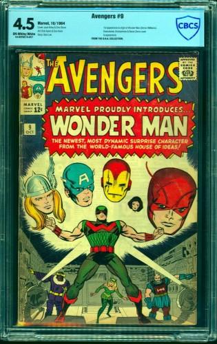Item: Avengers #9 CBCS VG+ 4.5 Off White to White Marvel Comics Thor Captain America