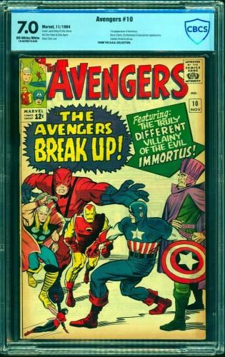 Item: Avengers #10 CBCS FN/VF 7.0 Off White to White