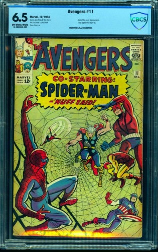 Item: Avengers #11 CBCS FN+ 6.5 Off White to White Marvel Comics Thor Captain America
