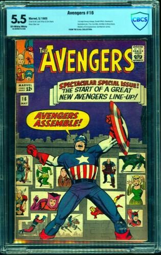 Item: Avengers #16 CBCS FN- 5.5 Off White to White Marvel Comics Thor Captain America
