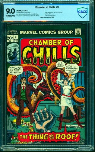 Item: Chamber Of Chills #3 CBCS VF/NM 9.0 Off White to White