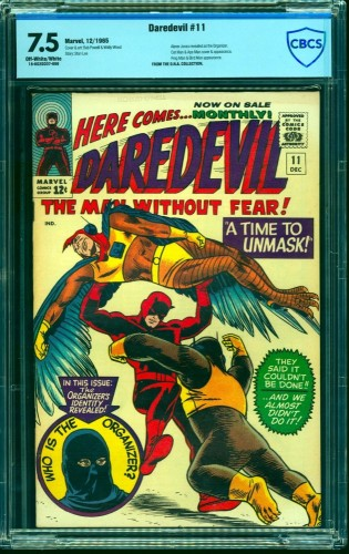 Item: Daredevil #11 CBCS VF- 7.5 Off White to White Marvel Comics