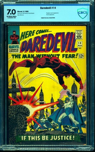 Item: Daredevil #14 CBCS FN/VF 7.0 Off White to White Marvel Comics